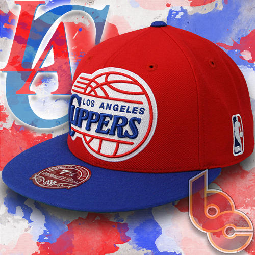 1983b3e01a6bf9 Los Angeles Clippers NBA FS01 Mitchell & Ness Fitted Hat - Billion Creation  Streetwear
