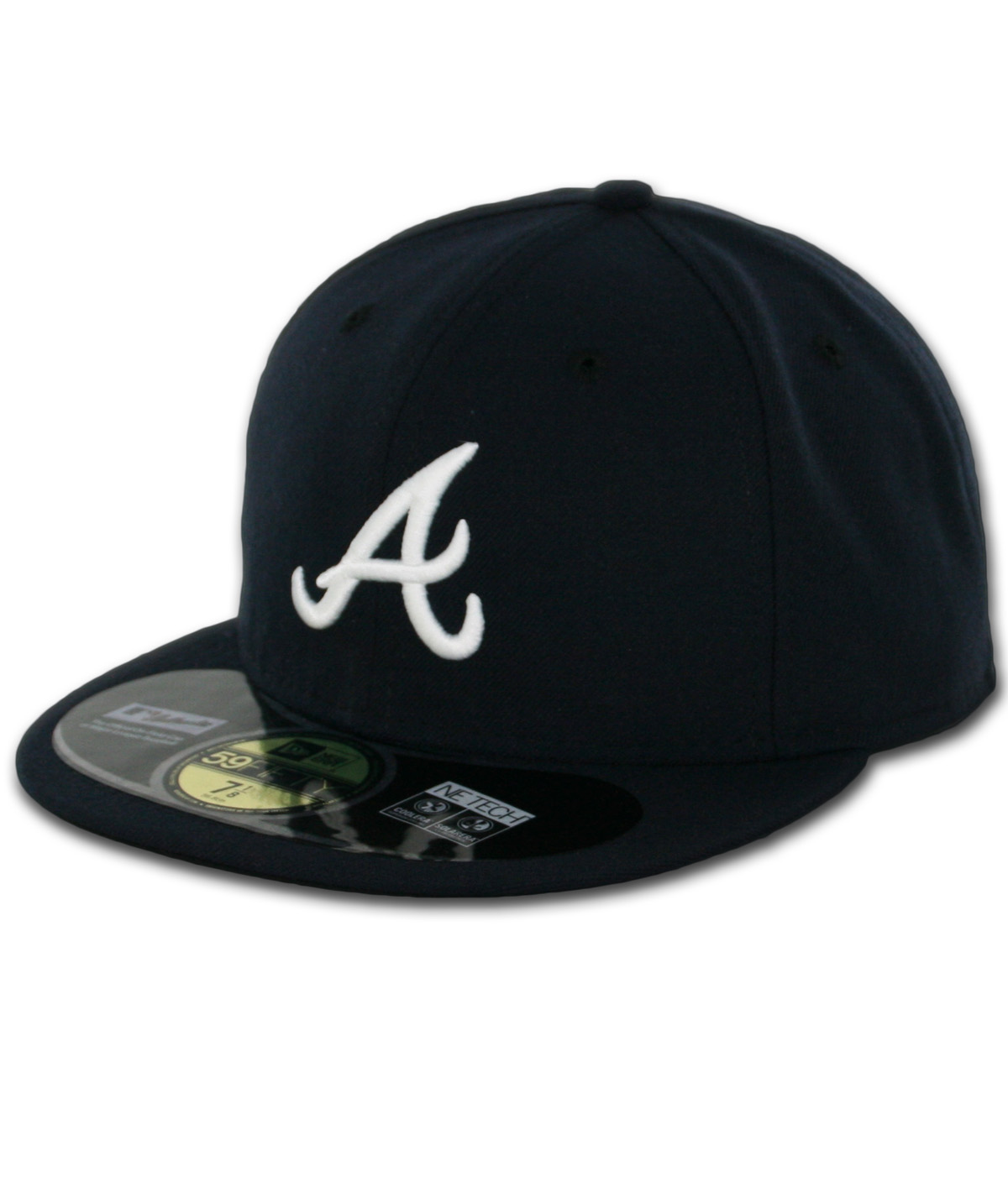 Braves Hats: New Era 5950 Atlanta Braves Road Authentic On Field Fitted
