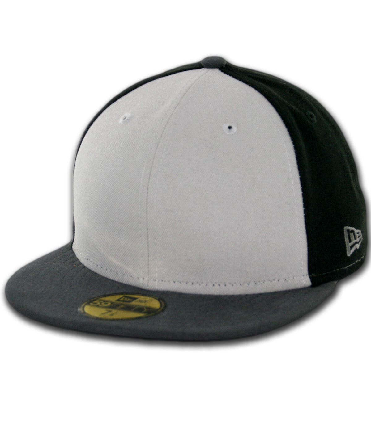 83c1fecd New Era Blanks 59FIFTY Plain Fitted Hat Tritone Black/Grey-Graphite ...