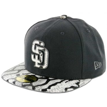 ba62d88fd55 New Era x Billion Creation 59Fifty San Diego Padres Grey Venom Fitted Hat  ...