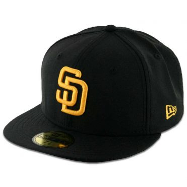 New Era 59Fifty San Diego Padres Fitted Black, Gold Hat