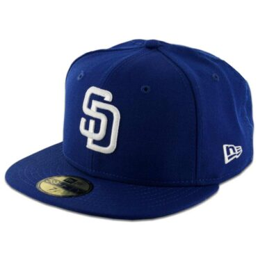 New Era 59Fifty San Diego Padres Fitted Royal Blue, White Hat