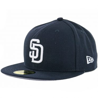 28e841a27f0 New Era 59Fifty San Diego Padres Fitted Hat Dark Navy