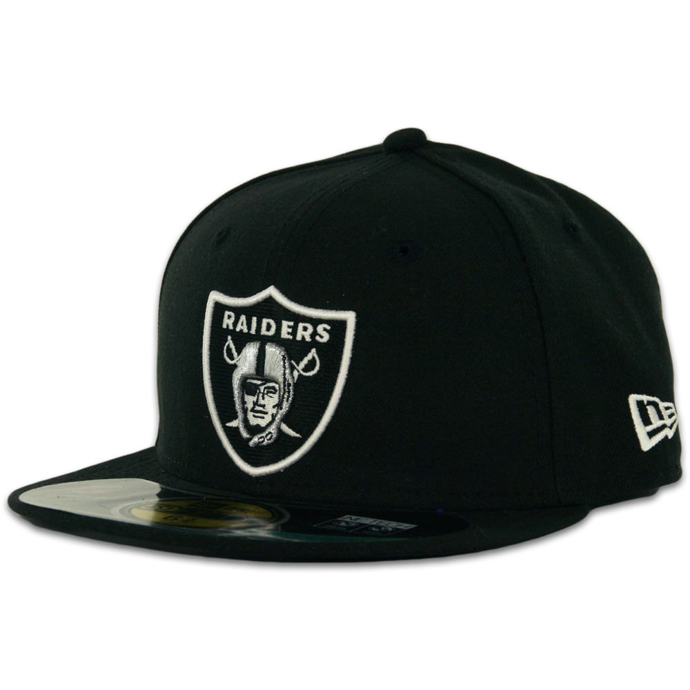 New Era 5950 Oakland Raiders Youth On Field Fitted Hat