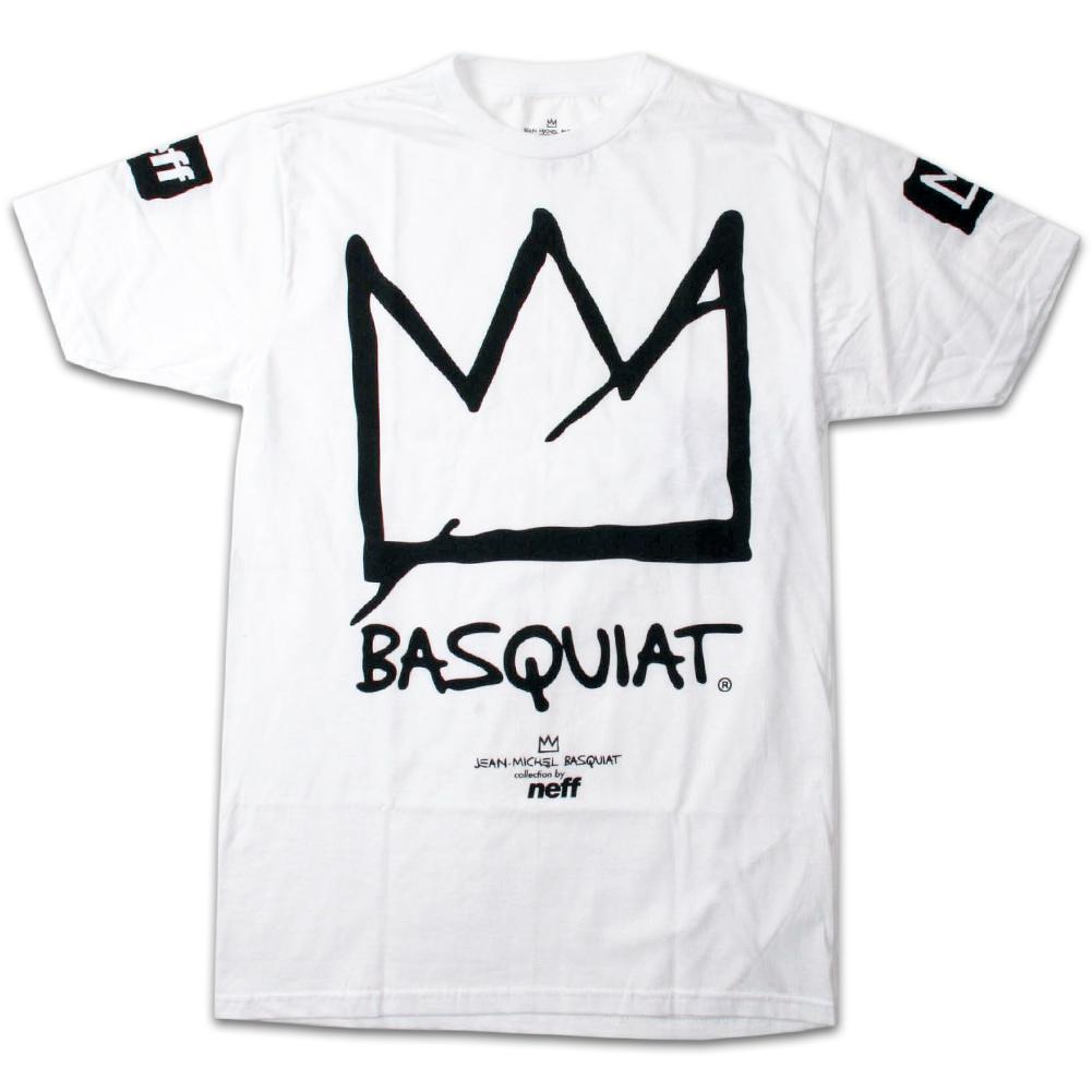 Neff x Jean-Michel Basquiat Crown White T-ShirtJean Michel Basquiat Crown
