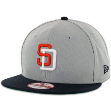 95c40e1ad42 New Era 9Fifty San Diego Padres Tony Gwynn Grey Dark Navy Snapback Hat ...