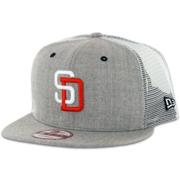 c6d478076ef New Era 9Fifty San Diego Padres Tony Gwynn Heather Grey Trucker Snapback Hat  ...