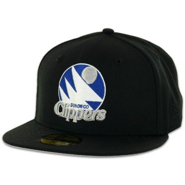 62c22c072740af New Era 59Fifty San Diego Clippers Black, Silver, Royal Blue Fitted Hat ...