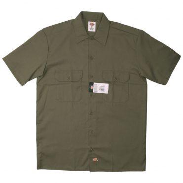 Dickies 1574 Short Sleeve Olive Green Work Shirt