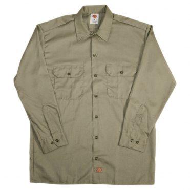 Dickies 574 Long Sleeve Khaki Work Shirt