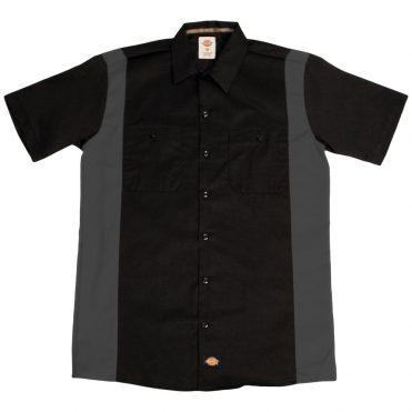 Dickies WS508 Two-Tone Short Sleeve Black/Charcoal Work Shirt
