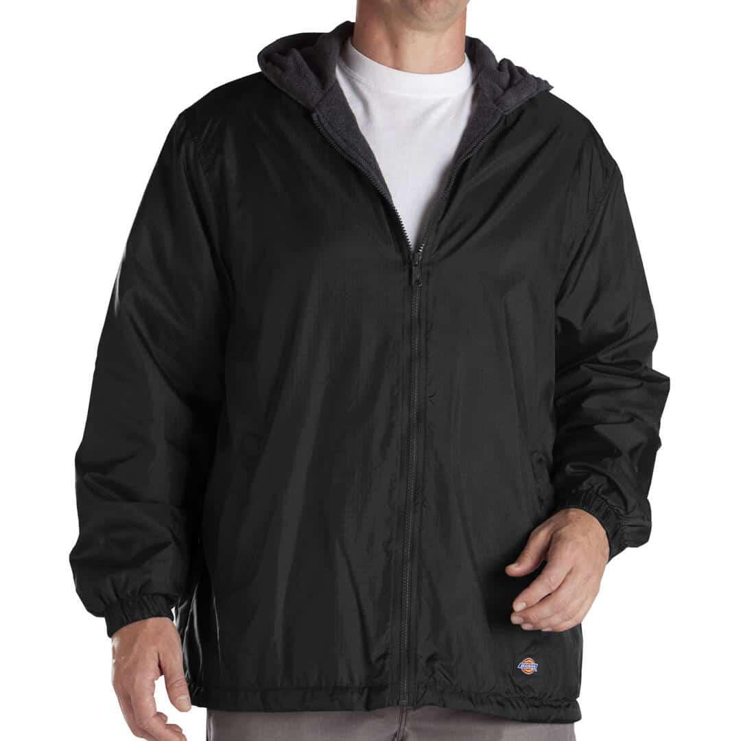 1779837bf Dickies 33237 Hooded Windbreaker Black Jacket