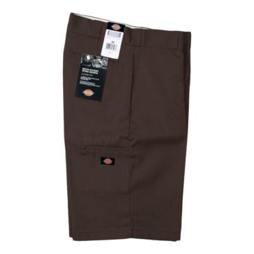 """Dickies 42283 13"""" Loose Fit Multi-Use Pocket Dark Brown Work Short"""