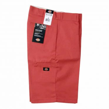 """Dickies 42283 13"""" Loose Fit Multi-Use Pocket English Red Work Short"""