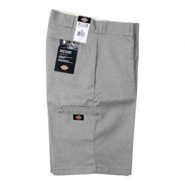 "Dickies 42283 13"" Loose Fit Multi-Use Pocket Silver Gray Work Short"