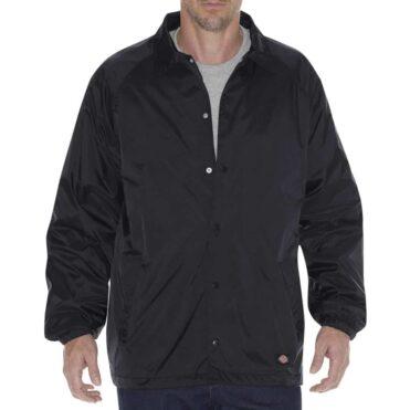 Dickies 76242 Snap Front Windbreaker Black Jacket
