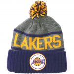 Mitchell & Ness Los Angeles Lakers High 5 Beanie - Front