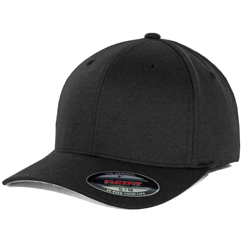 Flexfit Blanks Plain Blank Black Hat