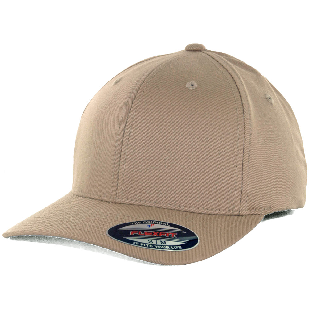 Flexfit Blanks Plain Blank Khaki Hat