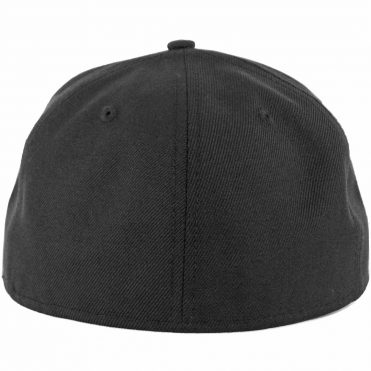 New Era Blanks 59FIFTY Plain Blank Fitted Hat Black Tonal