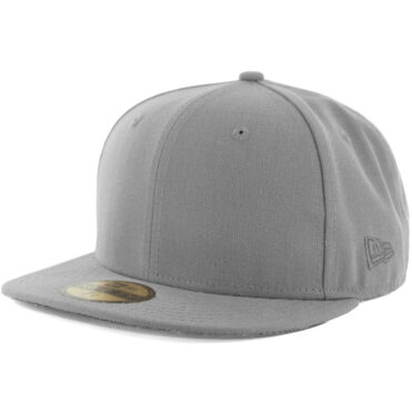New Era Blanks 59FIFTY Plain Blank Fitted Hat Grey Tonal