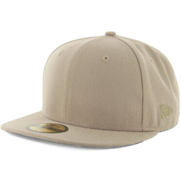 0d31c2f7098 New Era Blanks 59FIFTY Plain Blank Fitted Hat Khaki Tonal ...