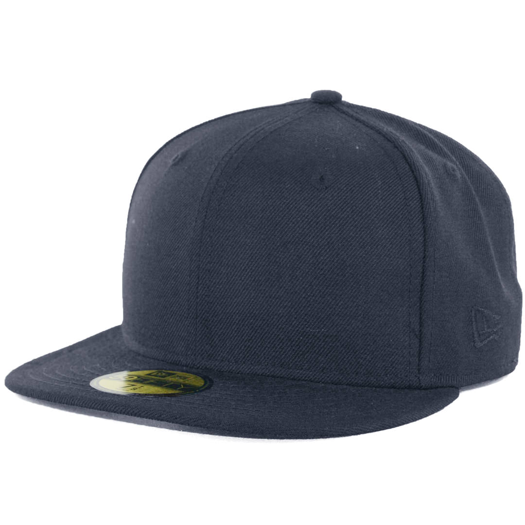 6152ca42 New Era Blanks 59FIFTY Plain Blank Fitted Hat Dark Navy Tonal