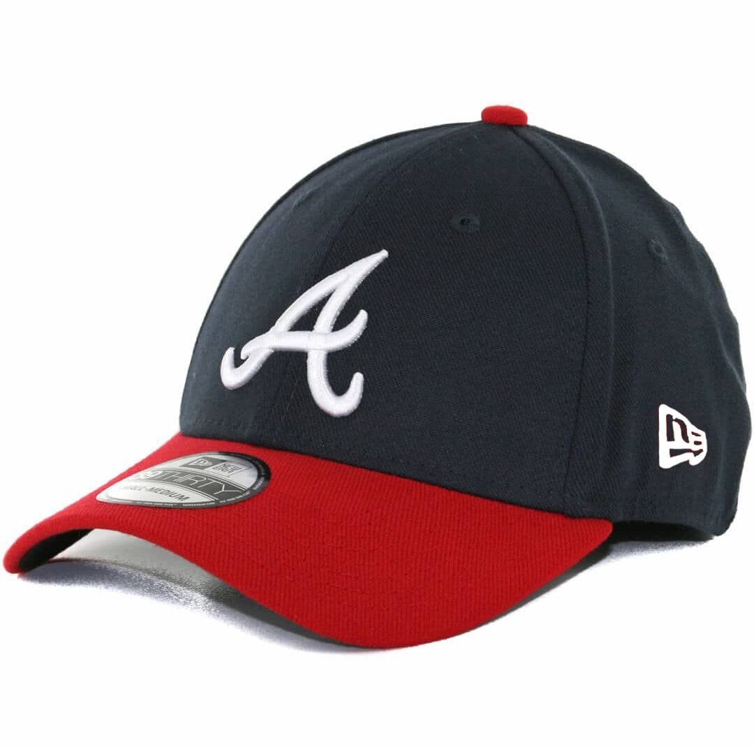 d1e662c9 New Era 39Thirty Atlanta Braves Team Classic Stretch Fit Hat, Navy/Red