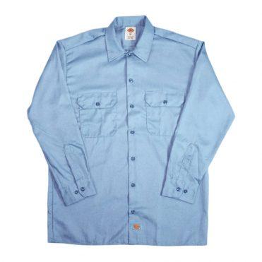 Dickies 574 Long Sleeve Gulf Blue Work Shirt