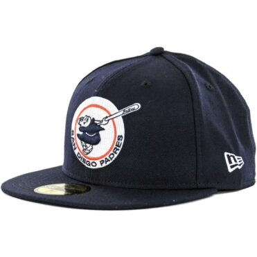 New Era 59Fifty San Diego Padres Gwynn Friar Fitted Hat Dark Navy