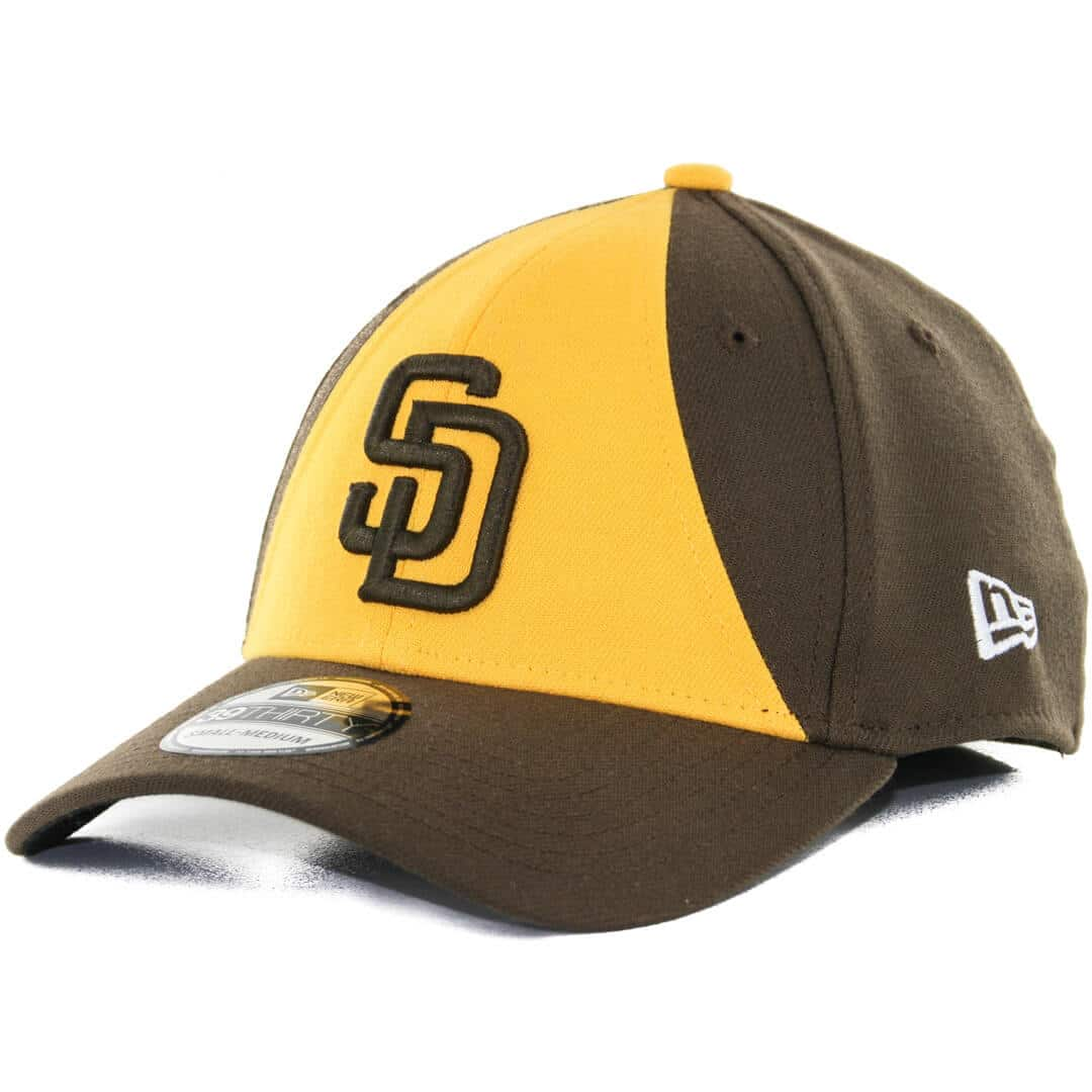the latest e51c0 7ce2e New Era 39Thirty San Diego Padres Alternate 2 Team Classic Stretch Fit Hat,  Brown