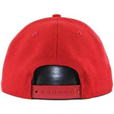 af2a6a24 ... New Era Blanks 9Fifty Plain Blank Snapback Hat, Scarlet Red