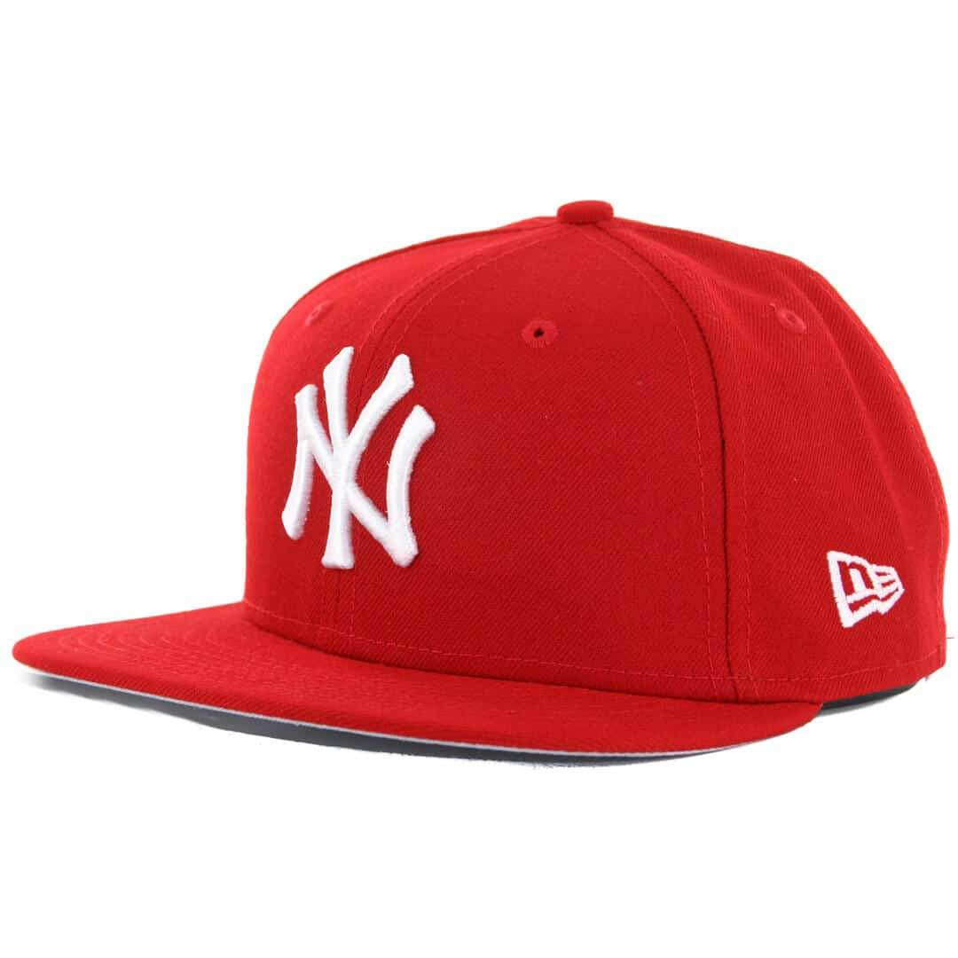 c464e59b8de315 New Era 59Fifty New York Yankees Fitted Hat, Scarlet Red, White ...