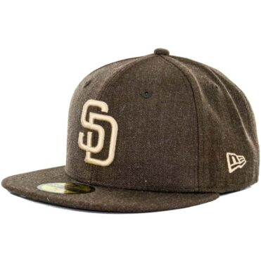 014c858a9b5 New Era x Billion Creation 59Fifty San Diego Padres Heather Fitted Hat
