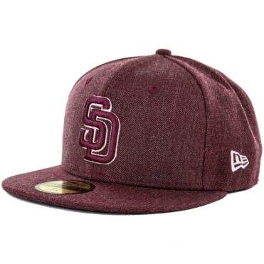 New Era x Billion Creation 59Fifty San Diego Padres Heather Fitted Hat, Heather Maroon