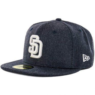 New Era x Billion Creation 59Fifty San Diego Padres Heather Fitted Hat, Heather Navy
