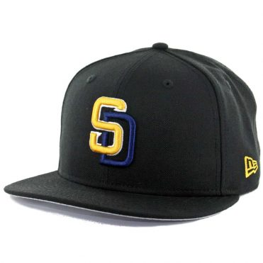 bc5b9ead New Era 9Fifty San Diego Padres Black Navy Yellow Snapback Hat ...