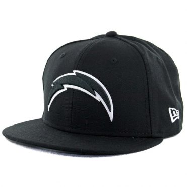 New Era 59Fifty San Diego Chargers Black White Fitted Hat