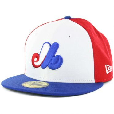 027b1ccfc54 New Era 59Fifty Montreal Expos Cooperstown Fitted Hat Royal Blue Red White Royal  Blue ...
