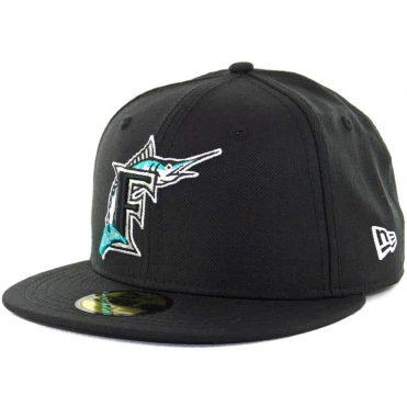 12d8e8969af New Era 59Fifty Florida Marlins Cooperstown Fitted Hat Black ...