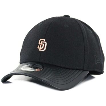 7dad3177889 New Era x Billion Creation 9Forty San Diego Padres Metal Micro Logo  Strapback Hat Black Rose ...
