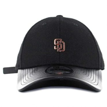 2e710924d83 ... New Era x Billion Creation 9Forty San Diego Padres Metal Micro Logo  Strapback Hat Black Rose
