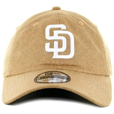 fe2e72168c6 ... New Era x Billion Creation 9Twenty San Diego Padres Waxed Cotton  Strapback Hat Khaki