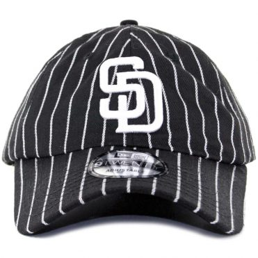 f5ceece9fb4 ... New Era x Billion Creation 9Twenty San Diego Padres Pinstripe Strapback  Hat Black White