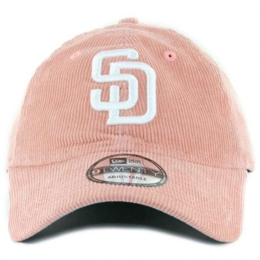 New Era x Billion Creation 9Twenty San Diego Padres Corduroy  Strapback Hat Pink
