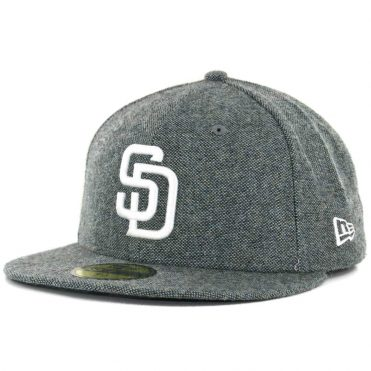 109a87f9e4d New Era x Billion Creation 59Fifty San Diego Padres Tweed Fitted Hat Black  White ...