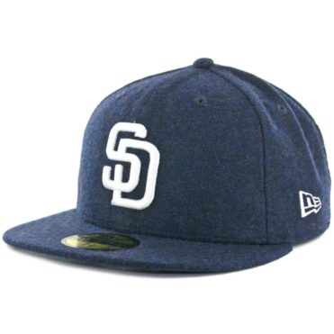 d5f1576e3cc New Era x Billion Creation 59Fifty San Diego Padres Tweed Fitted Hat Navy  ...