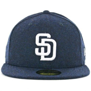 c6a1e67bebe ... New Era x Billion Creation 59Fifty San Diego Padres Tweed Fitted Hat  Navy