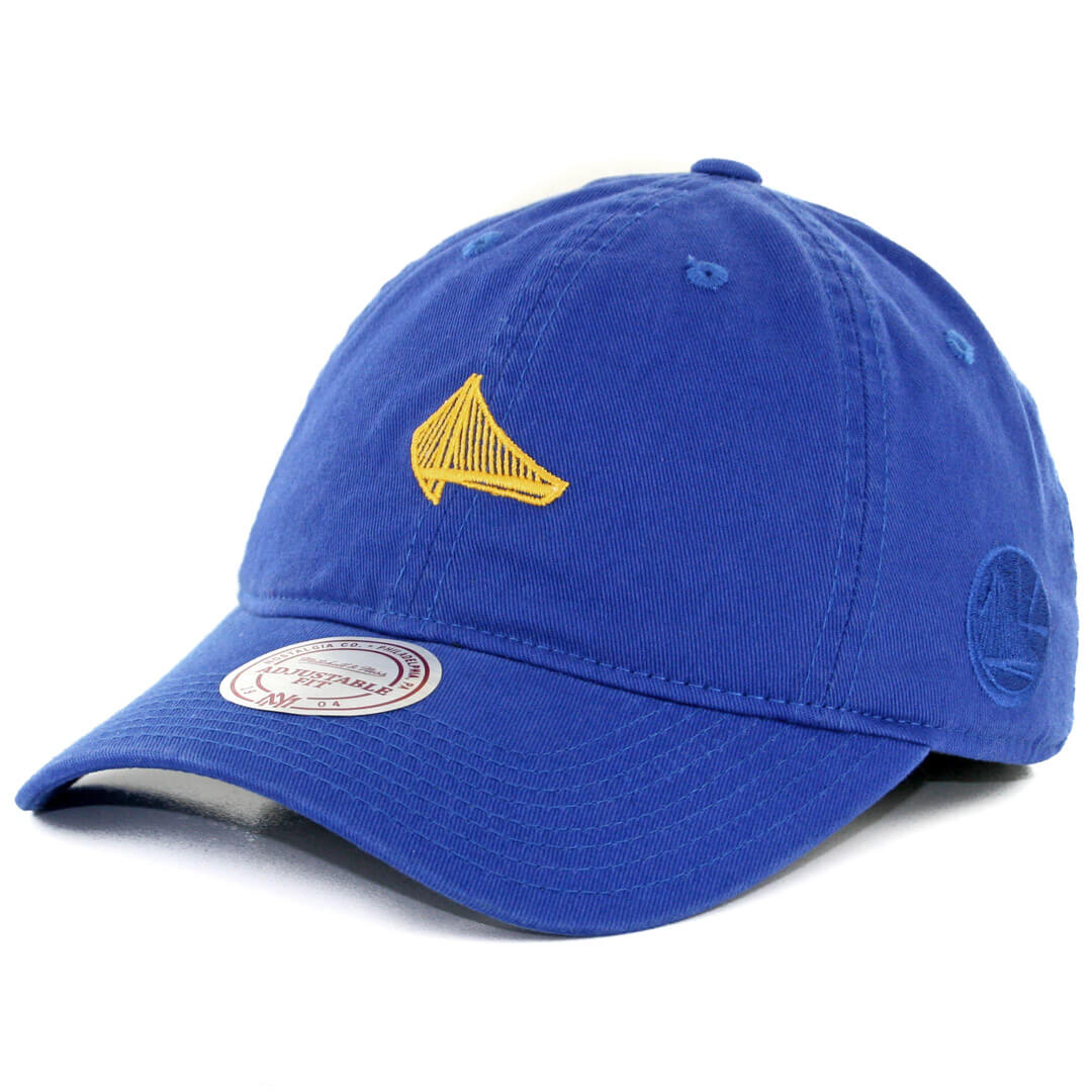 6b8c7822 Mitchell & Ness Golden State Warriors Elements Slouch Strapback Hat Royal  Blue