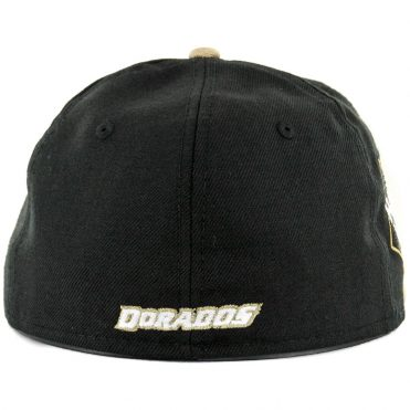 huge discount 6f53e cbeaf ... New Era 59Fifty Dorados Culiacan Sinaloa Fitted Hat Black White Gold